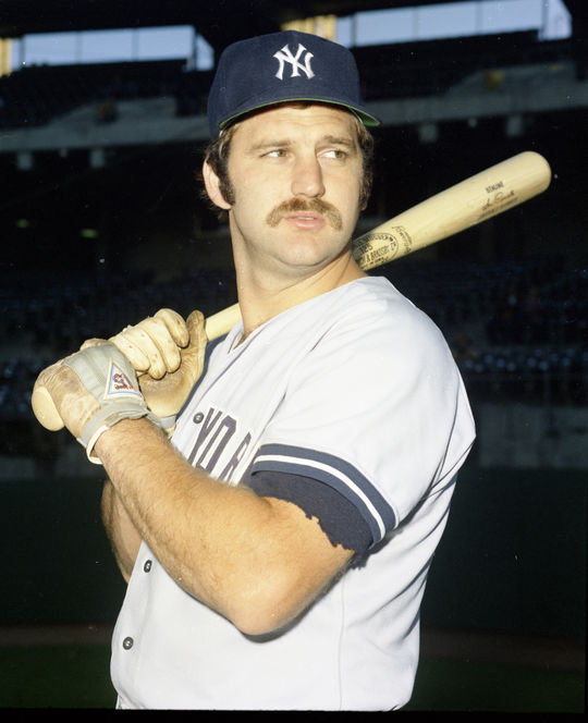 Gerry Moses backed up Yankees starting catcher Thurman Munson (pictured above) in 1973, but appeared in only 21 games due to Munson's durability. (Doug McWilliams/National Baseball Hall of Fame and Museum)