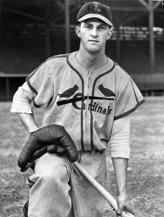 Cobb saw Stan Musial, pictured above, as a example of baseball played the right way.  Musial finished his career with 3,630 hits and a career batting average of .331. (National Baseball Hall of Fame)