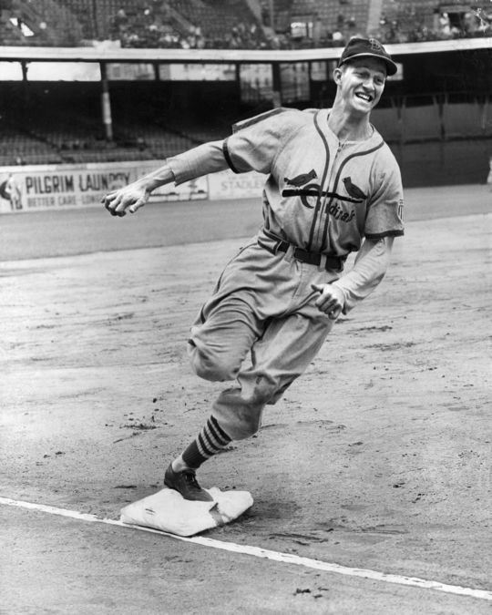 Stan Musial defined consistency during his career, all of which was spent with the Cardinals. (National Baseball Hall of Fame and Museum)