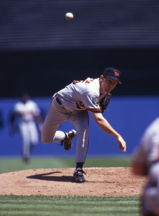 A five-time All-Star and a seven-time Gold Glove Award winner, Mike Mussina finished his career with a 270-153 record. He was elected to the Hall of Fame on Jan. 22, 2019. (Michael Ponzini/National Baseball Hall of Fame and Museum)