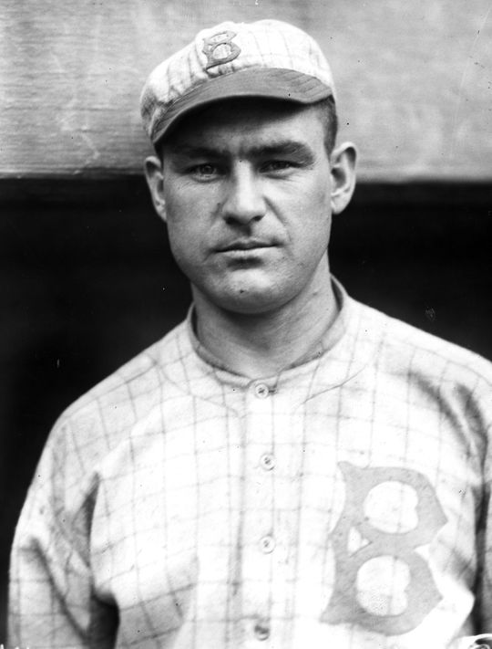 Hi Myers hit a home run in the first inning of Game 2 of the 1916 World Series off of Babe Ruth. It was the first and last run Ruth would allow that day. (National Baseball Hall of Fame)