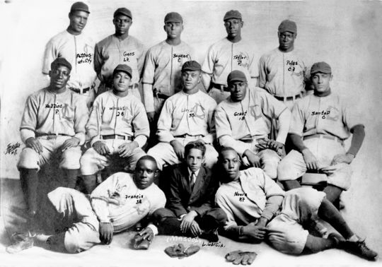 A team photo of the New York Lincoln Giants, who were based out of Harlem, taken in 1911. (National Baseball Hall of Fame)