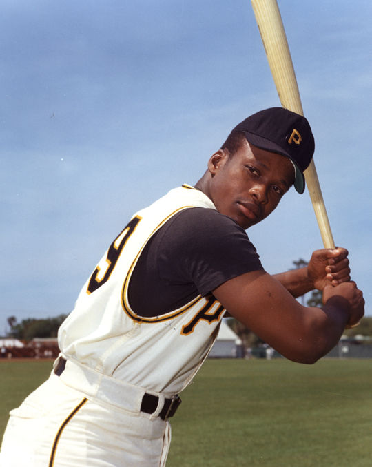 Al Oliver of the Pittsburgh Pirates posed batting. BL-8301-89 (Photo File / National Baseball Hall of Fame Library)