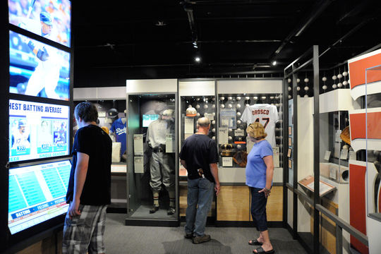 The Top Ten Tower, which allows visitors to look at top ten lists for numerous records in any year they choose, can be found in the One for the Books exhibit on the third floor. (Milo Stewart, Jr/National Baseball Hall of Fame)