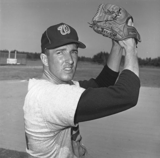 The Dodgers acquired pitcher Claude Osteen (pictured above) from the Senators on Dec. 4, 1964, in a seven-player deal that saw Pete Richert go to Washington. (National Baseball Hall of Fame and Museum)