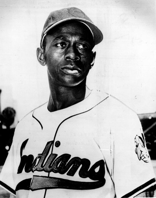 Satchel Paige joined the Cleveland Indians in 1948 at the age of 42 and helped pitch the Tribe to the 1948 World Series title. (National Baseball Hall of Fame and Museum)