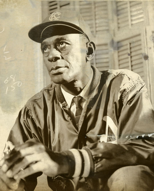 Satchel Paige became the oldest player to appear in a big league game when he pitched for the Kansas City Athletics on Sept. 25. 1965 at the age of 59. (National Baseball Hall of Fame and Museum)