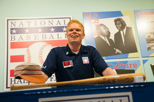 Parker Fish was the 2015 photography intern in the Frank and Peggy Steele Internship Program at the National Baseball Hall of Fame and Museum. (Milo Stewart, Jr. / National Baseball Hall of Fame Library)