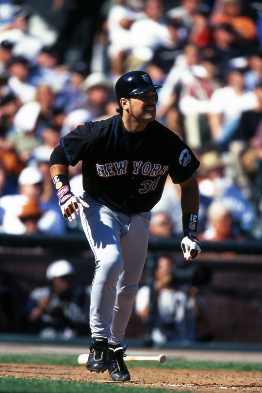 Mike Piazza was traded from the Dodgers to the Marlins, but his time in Miami was short. The Mets acquired him for three prospects on May 22, 1998. (Brad Mangin/National Baseball Hall of Fame and Museum)