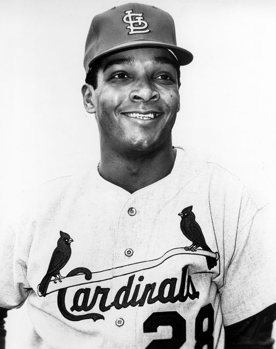 A few days after the 1968 World Series, the Cardinals traded Bobby Tolan to the Cincinnati Reds with sidearming reliever Wayne Granger for Vada Pinson (pictured above), a player with whom Tolan had been compared. (National Baseball Hall of Fame and Museum)
