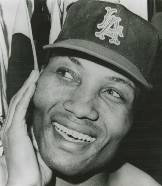 """George Altman met left fielder Leon Wagner (pictured above) when they were stationed at Fort Carson in Colorado Springs, Co.  They honed their baseball skills while on base, along with right fielder Willie Kirkland. <a href=""""http://collection.baseballhall.org/PASTIME/leon-wagner-smiling-photograph-1963-may-25"""">PASTIME</a> (National Baseball Hall of Fame and Museum)"""