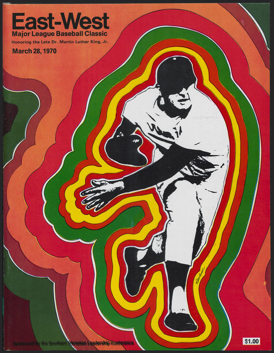 "The East-West Major League Baseball Classic featured 15 future Hall of Famers. This program and its contents are currently available for viewing in <a href=""http://collection.baseballhall.org/islandora/object/islandora%3A501453"">PASTIME</a>. (National Baseball Hall of Fame)"