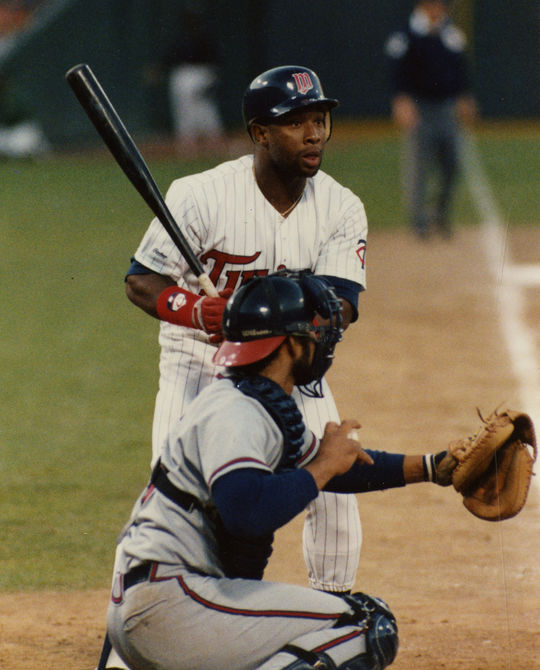 Kirby Puckett played 12 seasons for the Minnesota Twins, compiling 2,304 hits and a .318 batting average. (Doug McWilliams/National Baseball Hall of Fame and Museum)