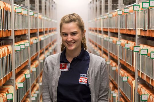 Rachel Nellis was the 2015 photo intern in the Frank and Peggy Steele Internship Program at the National Baseball Hall of Fame and Museum. (Parker Fish / National Baseball Hall of Fame Library)