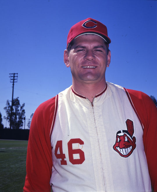Dick Radatz played for the Cleveland Indians for the second half of the 1966 season and was then traded to the Cubs after just three appearances in 1967. (National Baseball Hall of Fame and Museum)
