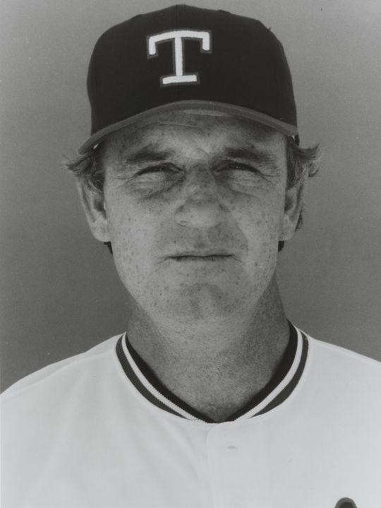 Douglas Rader of the Texas Rangers. BL-4017-85 (National Baseball Hall of Fame Library)