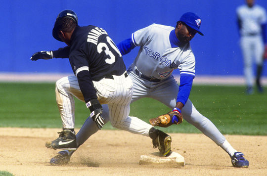 Tim Raines played for the White Sox from 1991-95, compiling a .283 batting average and 143 stolen bases. He was traded to the Yankees on Dec. 28, 1995, becoming a part of a New York team that would win the World Series title in 1996. (Ron Vesely/National Baseball Hall of Fame and Museum)
