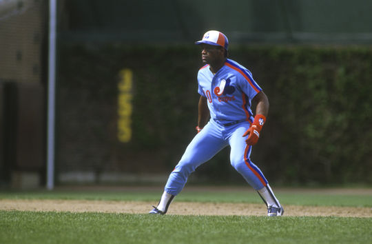 Tim Raines became the hero of the 1987 All-Star Game when he drove in a tie-breaking run in the top of the 13th inning. (Ron Vesely/National Baseball Hall of Fame and Museum)