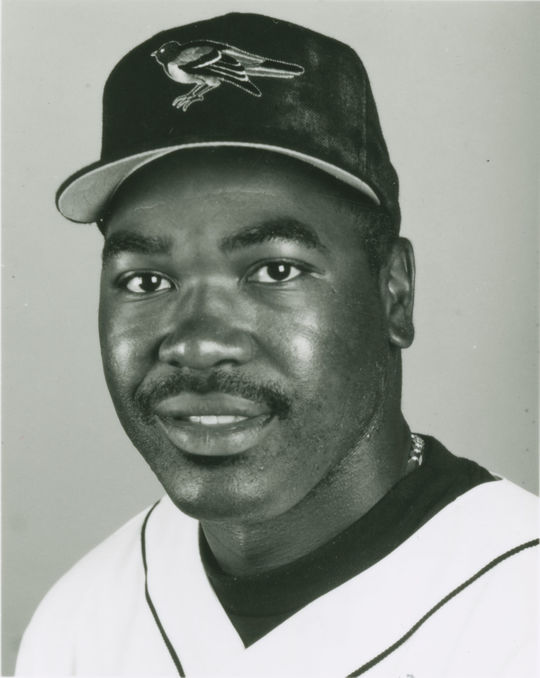 A headshot of Arthur Rhodes dressed in a Baltimore Orioles home uniform. (National Baseball Hall of Fame)