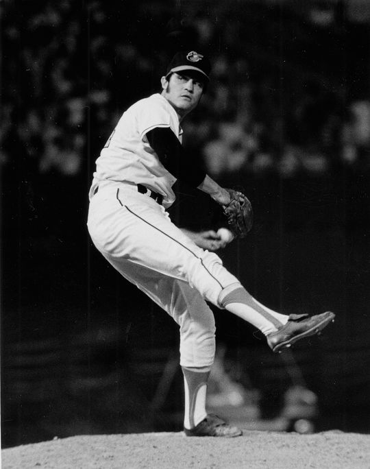 Pete Richert was one of the Orioles' most reliable relievers during their stretch of three straight American League pennants from 1969-71. (National Baseball Hall of Fame and Museum)
