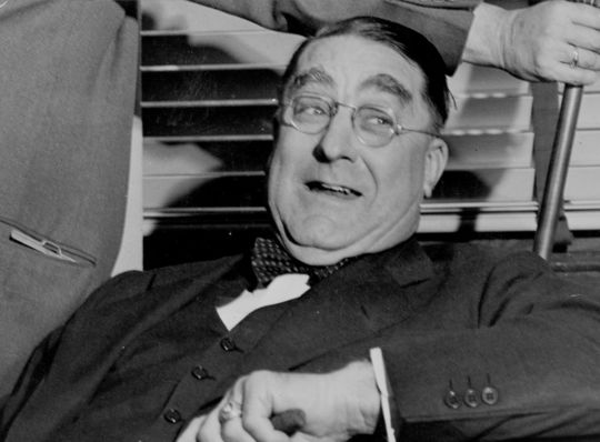 Branch Rickey helped build Dodger teams that included Hall of Famers Jackie Robinson, Duke Snider, Pee Wee Reese and Roy Campanella. (National Baseball Hall of Fame and Museum)