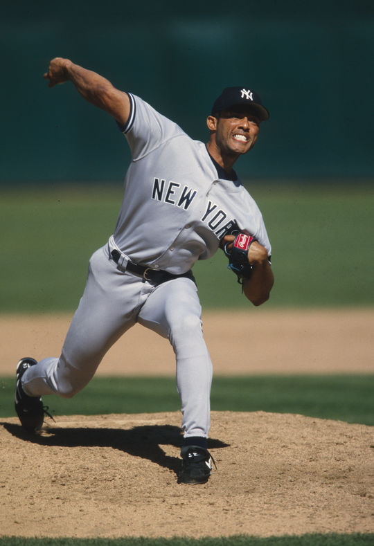 Mariano Rivera was signed by the New York Yankees out of Panama and spent his entire career with the team. (Brad Mangin/National Baseball Hall of Fame and Museum)