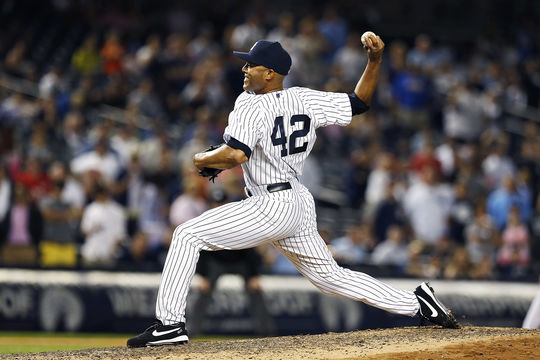 Mariano Rivera retired in 2013 with a record 652 saves and a 2.21 career ERA; the lowest of any Live Ball Era pitcher with at least 1,000 innings pitched. He was the first player in history to be elected unanimously by the BBWAA, on Jan. 22, 2019. (Brad Mangin/National Baseball Hall of Fame and Museum)