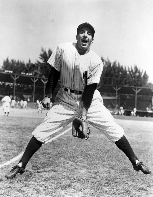 Phil Rizzuto was another player Cobb lauded; an integral part of the New York Yankees' success in the 1940s and 1950s, he was a five-time All-Star and an MVP in 1950. (National Baseball Hall of Fame)