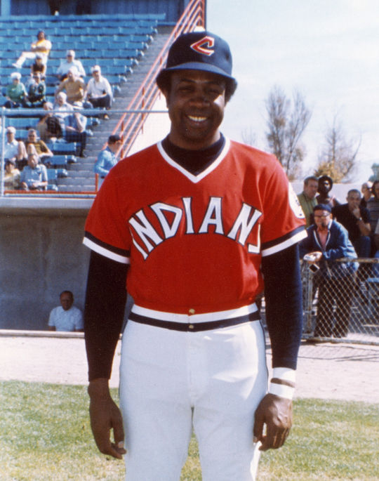 Frank Robinson became the first African-American manager in baseball history when he took over the Indians in 1975. (National Baseball Hall of Fame and Museum)