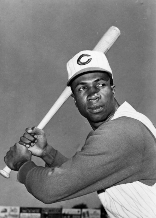 Frank Robinson began his 21-year big league playing career with the Cincinnati Reds in 1956, hitting a record 38 home runs en route to National League Rookie of the Year honors. (National Baseball Hall of Fame and Museum)