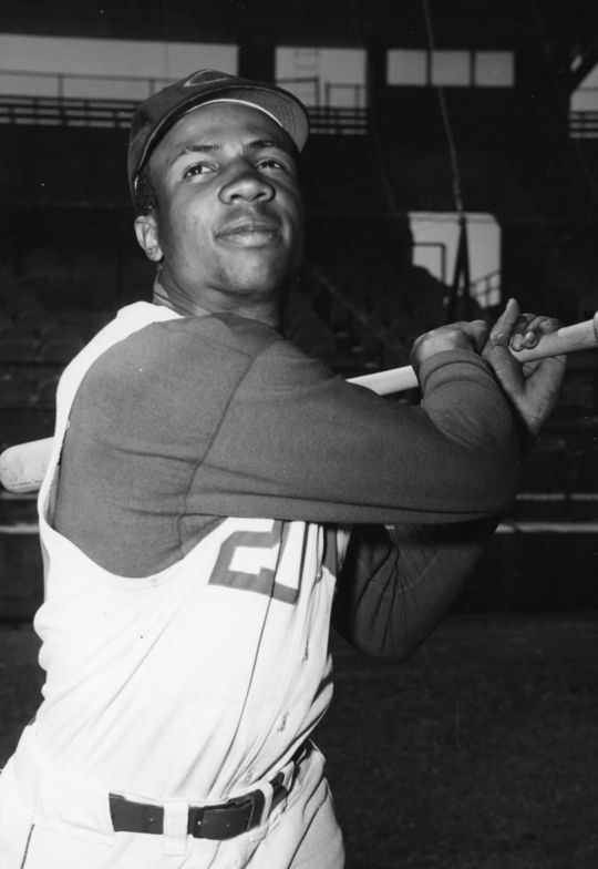 Frank Robinson made his major league debut on April 17, 1956, which marked the start of a decades-long Hall of Fame career. (National Baseball Hall of Fame and Museum)