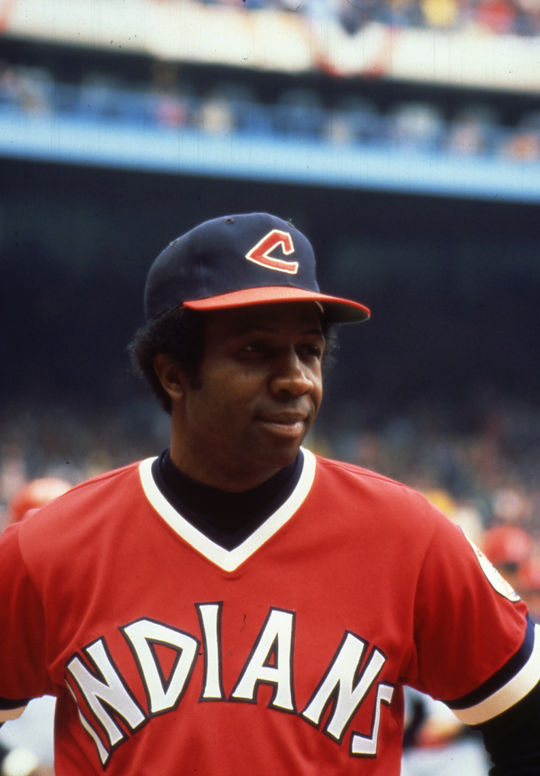 Toward the end of his playing career, Frank Robinson made history with the Indians as the first African-American manager in the major leagues. (Cliff Boutelle/National Baseball Hall of Fame and Museum)