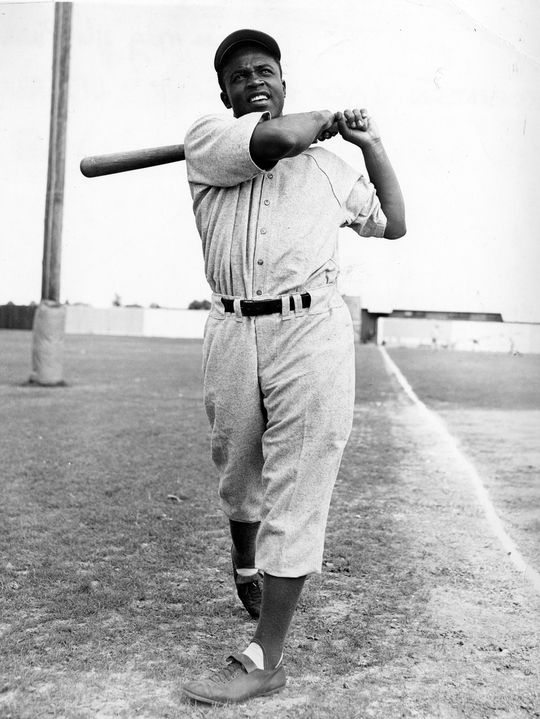 Jackie Robinson became the first African American to appear in a modern big league baseball game on April 15, 1947. (National Baseball Hall of Fame and Museum)