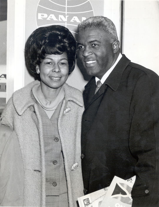 Rachel Robinson provided the support that Jackie needed through the challenging first years of his major league career. (National Baseball Hall of Fame and Museum)
