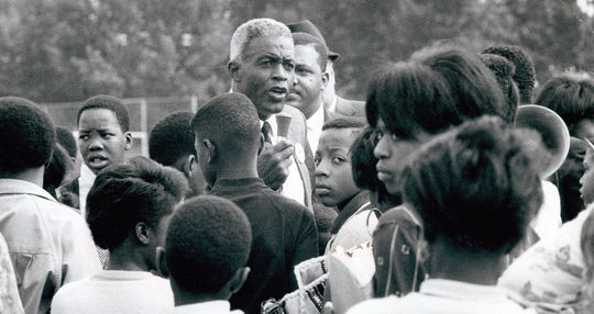 Jackie Robinson remained active as a champion of civil rights until he passed away on Oct. 24, 1972. (National Baseball Hall of Fame and Museum)