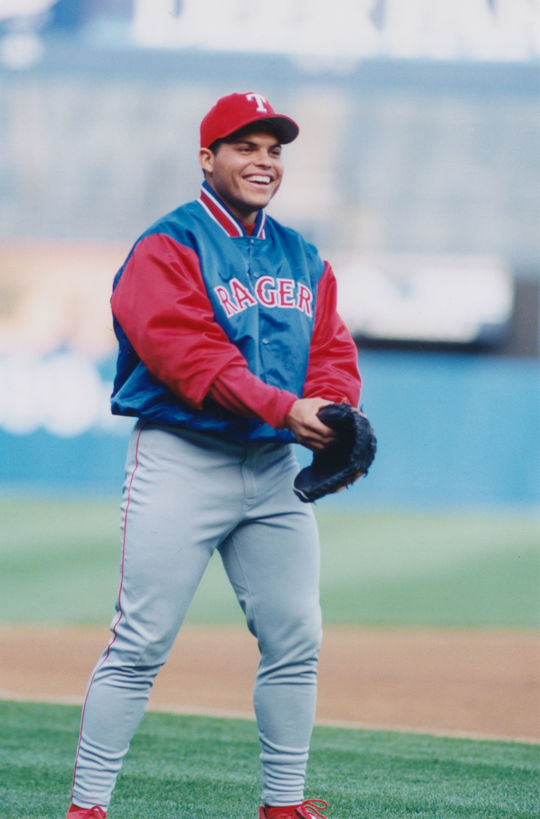 Iván Rodríguez in a Texas Rangers uniform. (National Baseball Hall of Fame)
