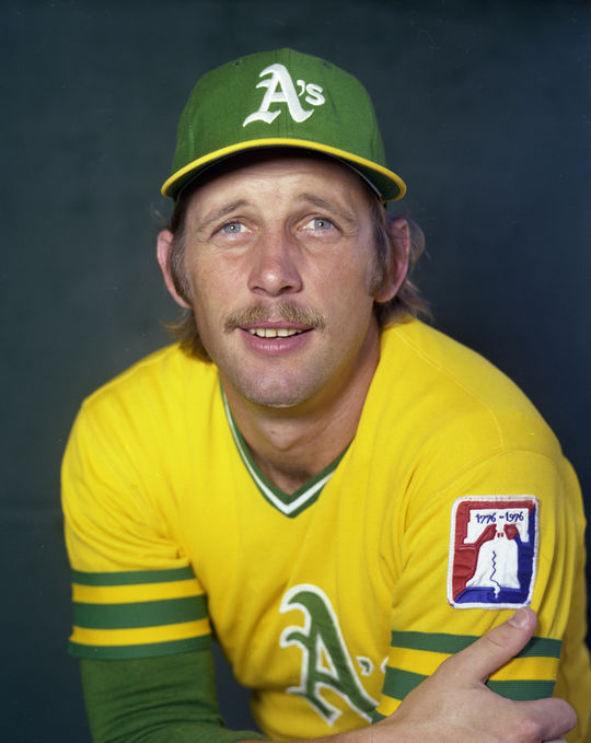 Although Joe Rudi was also part of Charlie Finley's controversial sale to the Boston Red Sox that was eventually voided, Rudi would ultimately play for the team, in 1981. (Doug McWilliams / National Baseball Hall of Fame)