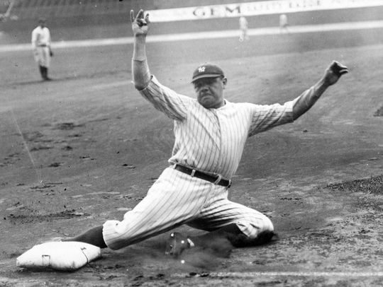 Babe Ruth played for the New York Yankees for 15 of 22 major league seasons. (National Baseball Hall of Fame and Museum)