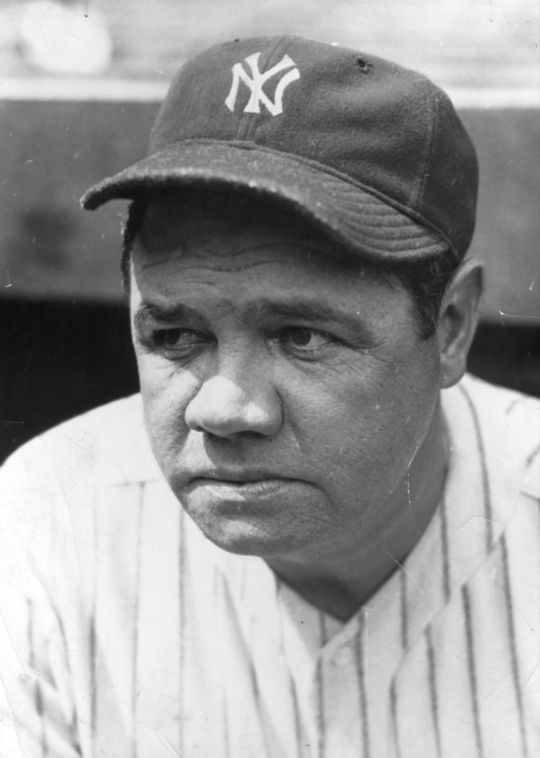 "Head shot of George Herman ""Babe"" Ruth. BL-1532.68WTdq"
