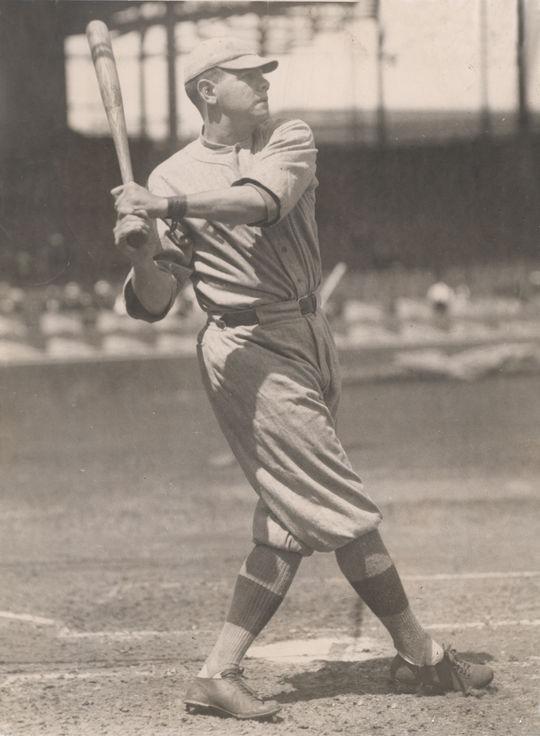 Babe Ruth batting as a Boston Red Sox. BL-1532.68WTb