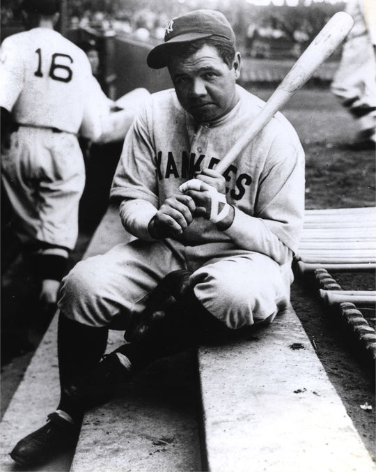 """A cultural icon, Babe Ruth is represented throughout the Museum's <a href=""""http://collection.baseballhall.org"""">PASTIME</a> collection. (National Baseball Hall of Fame)"""