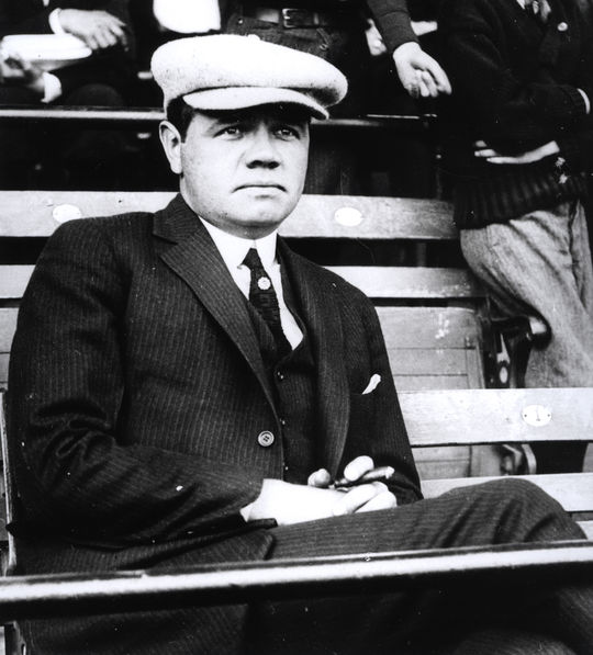 Babe Ruth remained active in the game after his final season as a player in 1935. At the time of his passing in 1948, he was still one of the most popular figures in America. (National Baseball Hall of Fame and Museum)