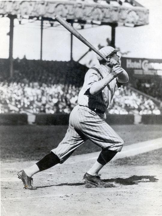New York Yankee Babe Ruth batting. BL-431.75