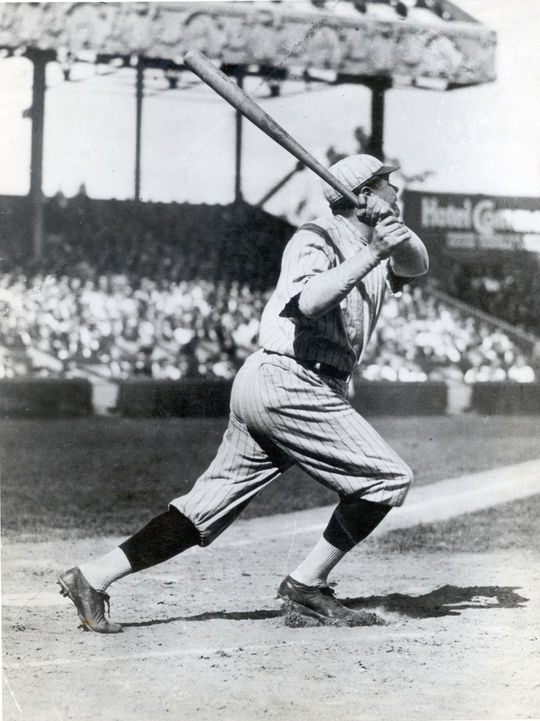New York Yankee Babe Ruth batting. BL-431.75