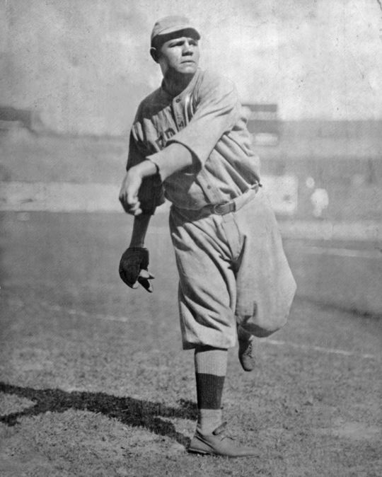 Ruth pitching as a Boston Red Sox. BL-6205.72b