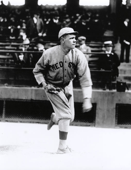 Ruth's pitching mark of nine shutouts in 1916 -- the most for American League lefties -- would last longer than his single-season and career home run records. It was not until 1978 that the record was equaled by Ron Guidry. (National Baseball Hall of Fame)