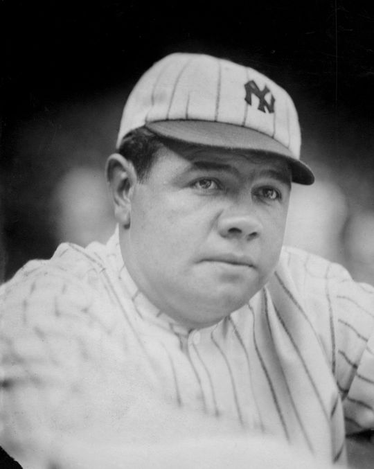 In 1921, Babe Ruth was had already set the single-season home run record three times, but in many ways, he was only getting started.  Ruth-Babe-1532.68-WT-co_HS_PD  (National Baseball Hall of Fame and Museum)