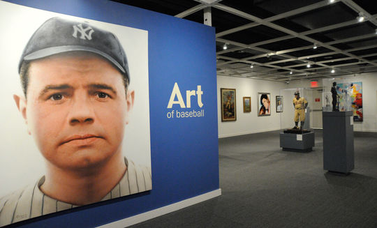 "The ""Art of Baseball"" exhibit features ""Babe Ruth,"" by Ross R. Rossin. (Milo Stewart, Jr. / National Baseball Hall of Fame)"