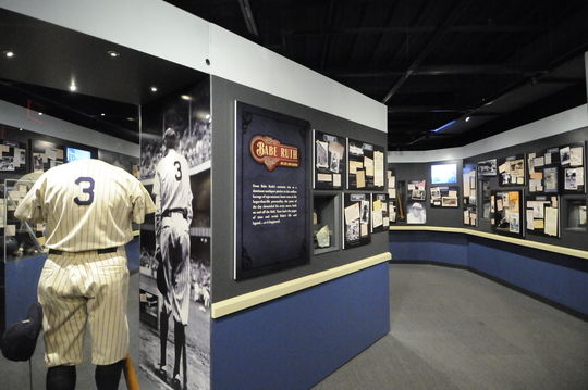 A view of the updated Babe Ruth exhibit, 2014. (Milo Stewart, Jr. / National Baseball Hall of Fame)