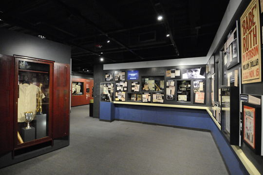 A view of the updated Babe Ruth exhibit at the National Baseball Hall of Fame and Museum, 2014. (Milo Stewart, Jr. / National Baseball Hall of Fame)